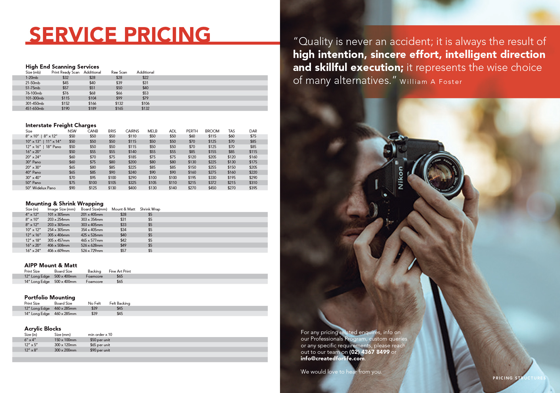 Photographic Printing Australia